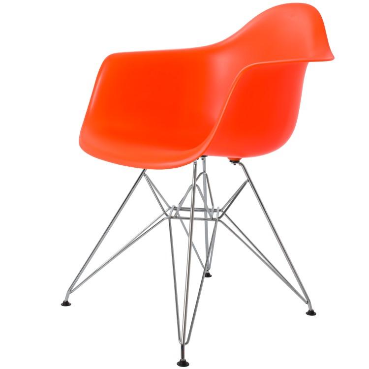 spisestue stol DD DAR PP neon oransj