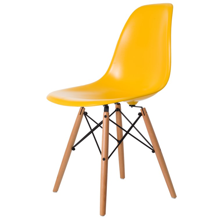 dining chair DD DSW ABS yellow