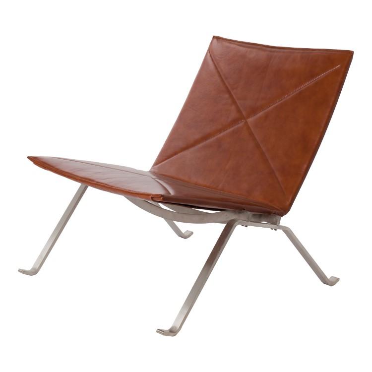 lounge krzesło PK22 koniak