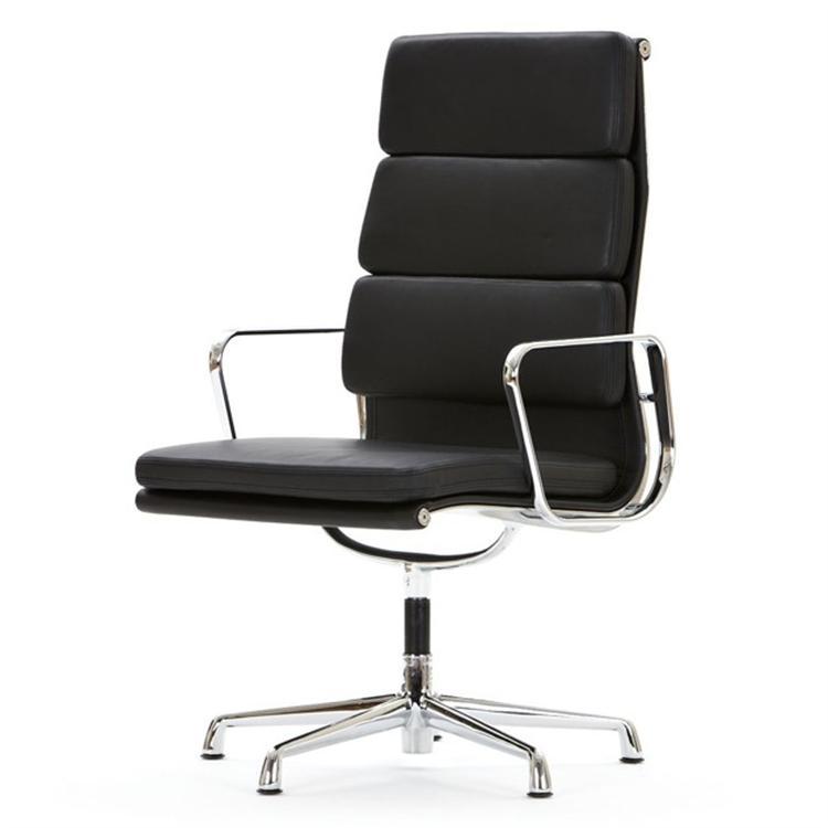 krzesło konferencyjne EA208 Wysoki plecach czarny