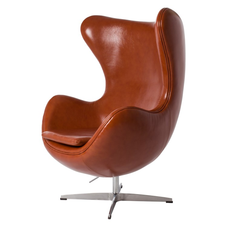 Jacobsen lounge chair egg chair leather design lounge for Chair design leather