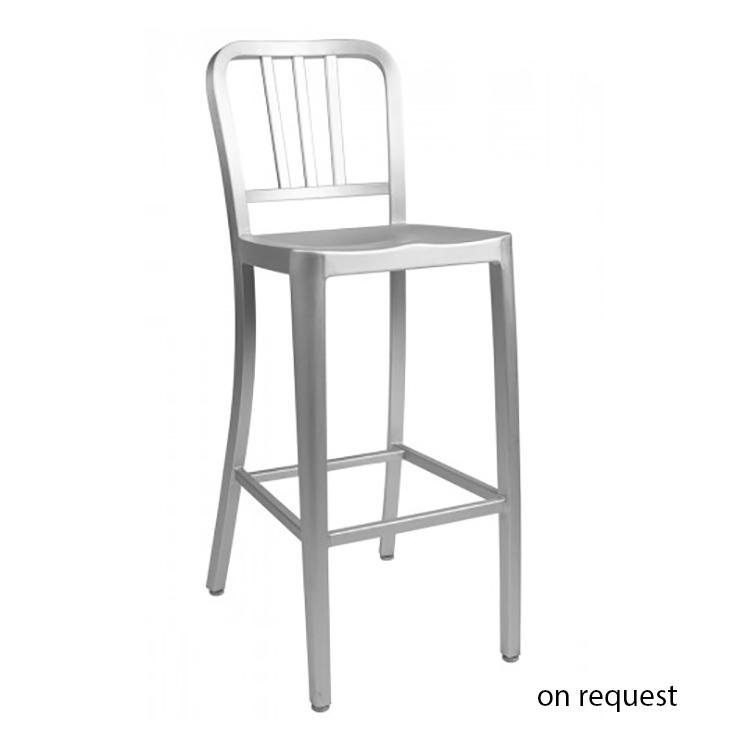 Philippe starck hocker navy bar stool barhocker design for Barhocker aluminium