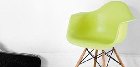 Eames Daw Eetkamerstoel Groen