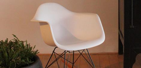 Eames Rar Schommelstoel Design Wit