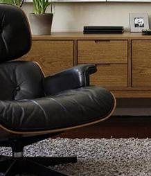 eames lounge zwart